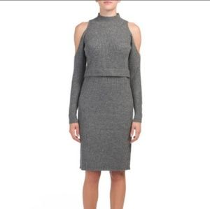 NWT Fate ribbed knit sweater dress (M)